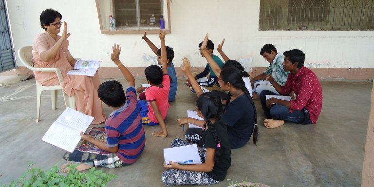 School Missionaries at Bhuvanapalli, Andhra Pradesh, India